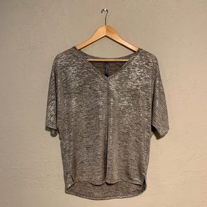 Anthropologie silver blouse
